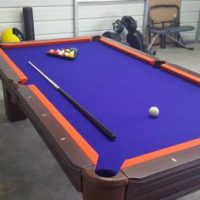 8ft Slate Pool Table Excellent Shape