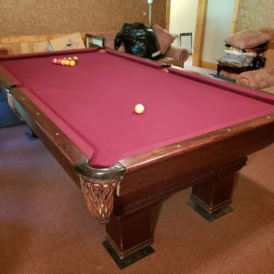 9' Vintage Billards Table & Equipment - The Brunswick Balke Collender Co. Monac